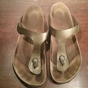 Gold Womens Birkenstock Sandals